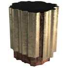 Orchard Walnut Root Veneer, Black Lacquer & Gold Leaf Side Table