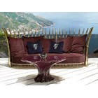 Panache Outdoor Upholstered Steel Lacquered Italian Sofa
