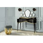 Piano Gold Leaf & High Gloss Lacquer Dressing Table