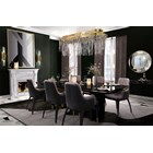 Polished brass & Black lacquer luxury grand dining table