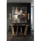 Polished brass, Black lacquer & Nero Marquina Marble console table