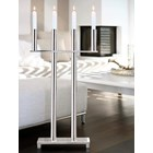 Polished Silver 4-Flame Standing Candle Holder