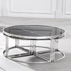 Polished Stainless Steel Laguna Coffee Table