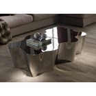 Polished Stainless Steel Lake Coffee Table