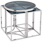 Polished Stainless Steel Laguna Side Table