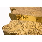 Polished Cast Brass Gold Plated Gold Coffee Table-Large