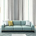 Portafino Upholstered Lacquered Stainless Steel Sofa XL