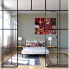 Proveglia Upholstered Lacquered Patina Leafed Bedstead