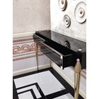 Romeo Italian Lacquered Brass & Mother Of Pearl Console Table