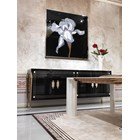 Romeo Italian Lacquered Brass & Mother Of Pearl Sideboard