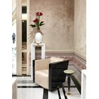 Rome Lacquered & Stainless Steel Swivel Italian Armchair