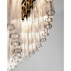 Round Gold Plated Brass Lovano Suspension Light