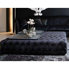 Royal Sapphire Upholstered Button Tufted Plush Velvet Rectangle Coffee Table