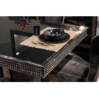 Silva Italian Polished Stainless Steel Dining Table