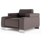 Soft Cubed Upholstered Armchair