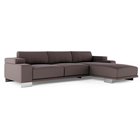 Soft Cubed Sofa with Chaise