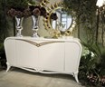 Spacium high gloss cream sideboard with 2 doors and 2 drawers