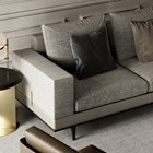 Suadela Sofa With Brushed Brass Inserts