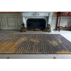 Taupe And Golden 100% Viscose Rug