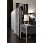 The Luxe Leather & Steel Rectangular Bedside Table