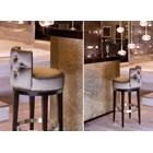 The Rococo Upholstered Bar Stool