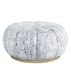 Torcello Upholstered Stainless Steel Pouf Large