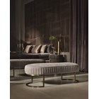 Touched D Amphora Leather & Brass Bench Seat