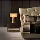 Touched D Brushed Gloss Gold Leafed Table Lamp
