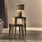 Touched D Brushed Gloss & Marble Top Square Coffee & Side Table