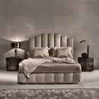 Touched D Earl Upholstered Leather Bedstead