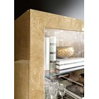 Touched D Gloss Myrtle Burl & Mirrored Showcase Cabinet