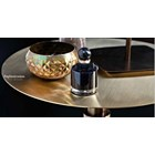 Touched D Gold Burnished Brass Round Side Table