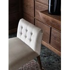 Touched D Upholstered Button Tufted Small Low Chair