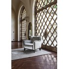 Touched D Upholstered Low Maple Wing Armchair