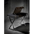 Traveler Leather & Stainless Steel Desk With Compartment