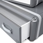 Travellers Glossy Grey Children's Bookcase
