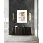 Polished Brass, Black Lacquer Trevi Sideboard
