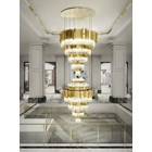 Ancona Grande XL Gold Plated Brass & Crystal Glass Chandelier