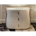 Italian Upholstered Curved Chest Of Drawers