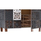 Venice Carved Ironwood & Satinwood Lacquered Cabinet