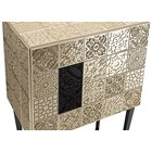 Venice Carved Ironwood & Satinwood Lacquered Gold Leaf Cabinet