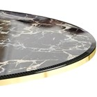 Verona Gold Plated Polished Brass & Potoro Marble Dining Table