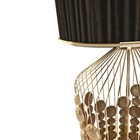 Vineyard Hammered Polished Gold Brass Table Lamp