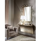 Vintage Silver Leaf Wall-Mounted Console