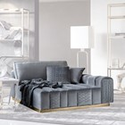 Square Upholstered Vittoria Quilted Ottoman