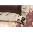 Wing Upholstered Tufted Italian Bedstead