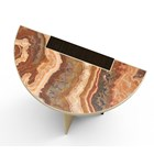 Brushed Brass & Marble Zaifa Side Table