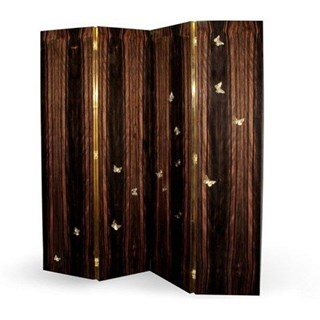 Luxury butterfly exotic wood floor screen