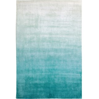 100% Viscose Light Reflecting Opulence Aqua Rug