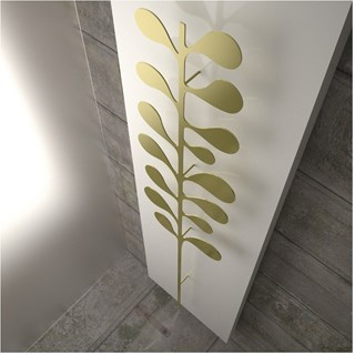 Luxury matte white and gold towel warmer radiator